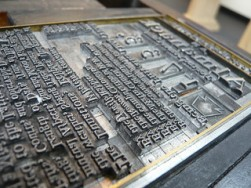 moving letters printing press