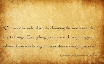 Word magic quote Fynn Jack Reusen and the Fey Flame